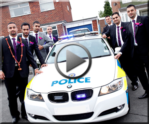 Police Escort Sikh Wedding